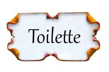 Targhetta toilette di ceramica