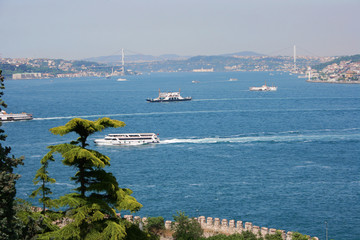 Bosphorus View from Topkapi Palace's Garden in Istanbul