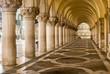 Leinwanddruck Bild - Ancient Columns in Venice. Arches in Piazza San Marco, Venezia
