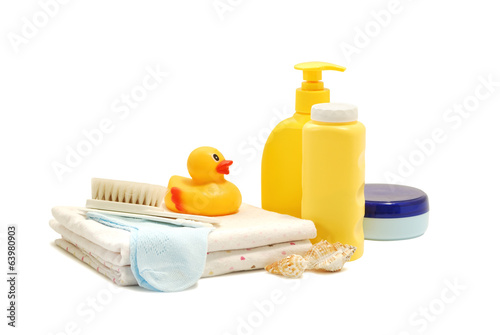 Baby soap, talcum powder, cream and other bathroom accessories