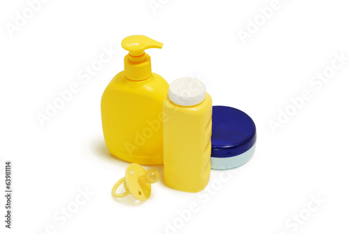 Baby soap, talcum powder, cream and other items