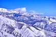 冬の白馬村の山並み