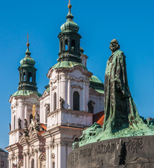 Old Town Square (Staromestske namestí), Jan Hus monument