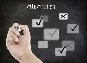 Evaluation checklist board