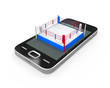 Boxing Ring in Mobile Phone