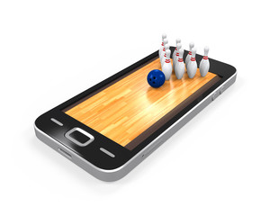 Bowling Lane in Mobile Phone