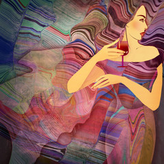 abstract background woman
