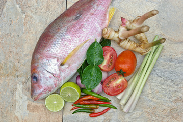 fish and fresh herb