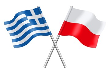 Flags : Greece and Poland