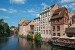 Typical medieval houses along the Ill river in Strasbourg