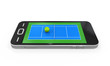 Tennis Court in Mobile Phone