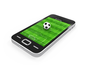 Soccer Field in Mobile Phone