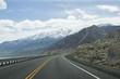 Oregon Highway Snow Mountains