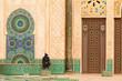 Leinwanddruck Bild - Casablanca, Morocco: Ornate exterior brass door of Hassan II Mos