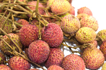 Lychee fruit in isolated on white background