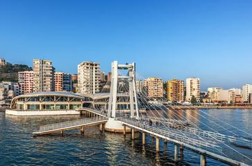 Pista e Re building an bridge in Dürres, Albania