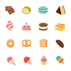 Dessert icon full color flat icon design.