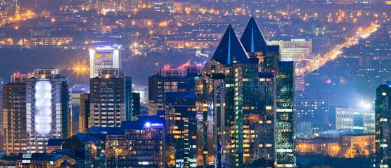 Night city of Almaty