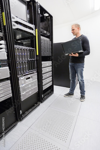 It engineer monitor systems in datacenter