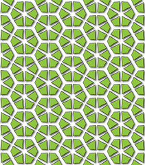 hexagonal green abstract patterns