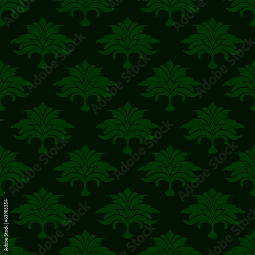 green background with flower leaves
