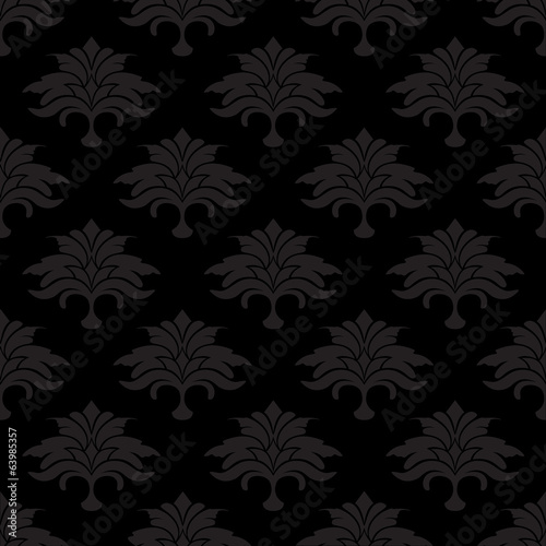 black background with flower leaves
