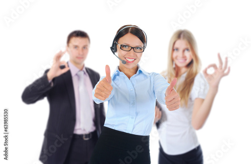 Happy smiling business team