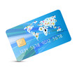 Blue Vector Credit Card Illustration