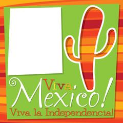 Cinco De Mayo cactus card in vector format.