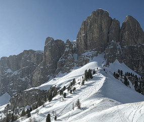 Sella Group, view from Gardena Pass - Dolomiti