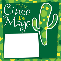 Cinco De Mayo cactus card in vector format.