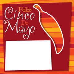 Cinco De Mayo chilli card in vector format.