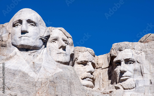 Foto op Canvas Standbeeld Mount Rushmore National Monument in South Dakota. Summer day wit