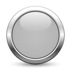 Grauer metallischer Knopf mit Textfreiraum
