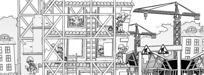 Construction set - coloring page