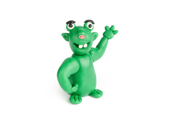 funny troll of plasticine