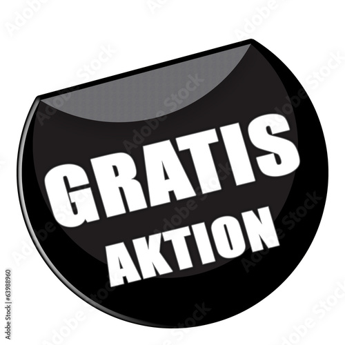 Button Gratis Aktion in schwarz - g860