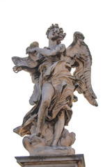 Bernini's marble statue of angel, Rome