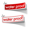 Water proof stickers