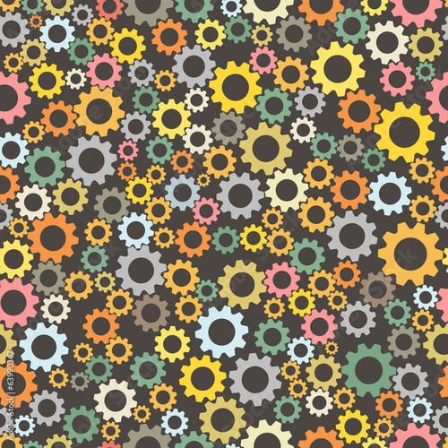 Gear wheel seamless pattern background