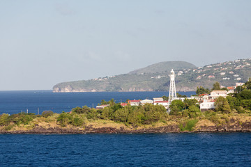 Whhite Beacon on Coast of Martinique