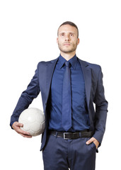 businessman with soccer bal