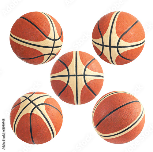 Basketball ball on a white background. Isolated.