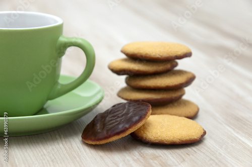 biscuit and cup