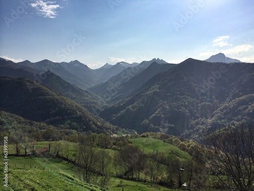 Mountains in Asturias, Spain