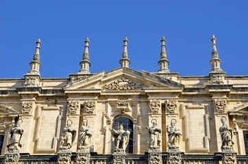 Front of Cathedral of Jaen, Andalusia, Spain