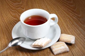 Чашка чая с печеньем, Cup of tea with cookies