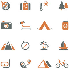 Travel and tourism icon set vector for design.