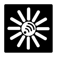 sun wi-fi black and white