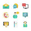 Customer Helpdesk Contacts Design Elements